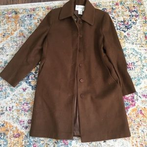 Chadwicks vintage  - brown 3/4 length wool coat